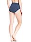 Le Bas de Bikini Gainant Taille Haute à Pois, Femme Stature Standard