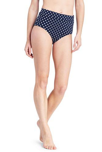 c491860eac Le Bas de Bikini Gainant Taille Haute à Pois, Femme | Lands' End