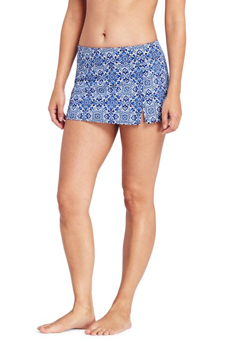 Women's Petite Mini SwimMini Skirt with Tummy Control