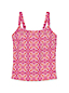 Women's Beach Living Majolica Tile Print Tankini Top