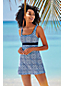 Women's DD-Cup Beach Living Tile Print Sweetheart Dresskini Top