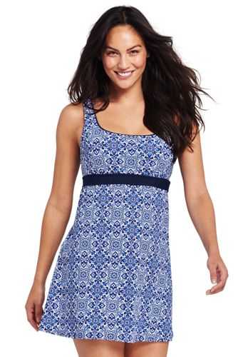 Women's Beach Living Tile Print Sweetheart Dresskini Top