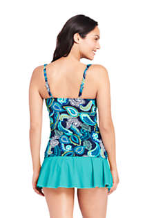 Women's Underwire Square Neck Tankini Top, Back