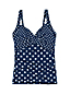 Women's Beach Living Dot Print Wrap Tankini Top