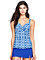 Women's Beach Living Batik Print Wrap Tankini Top