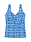 Women's D-cup Beach Living Batik Wrap Front Tankini Top