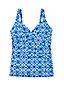 Women's Beach Living Batik Print Wrap Tankini Top