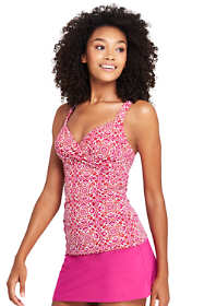 Women's Long Underwire Wrap Tankini Top