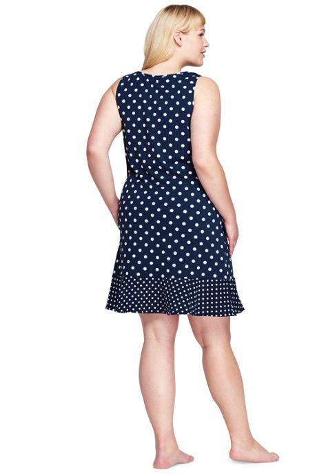Women's Plus Size Flounce Swim Cover-up Dress