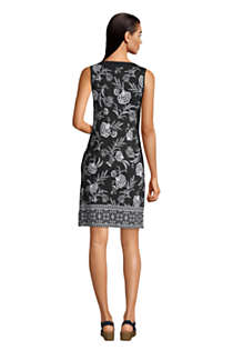 Women's Cotton Jersey Sleeveless Swim Cover-up Dress Print, Back