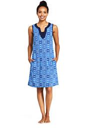 b65e6bfebc207 Women s Cotton Jersey Sleeveless Tunic Dress Swim Cover-up Print ...
