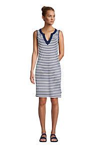 880147b0c Women's Cotton Jersey Sleeveless Swim Cover-up Dress Print