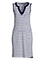 Women's Sleeveless Cotton Stripe Beach Cover-up