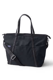 Carryall Solid Tote Diaper Bag