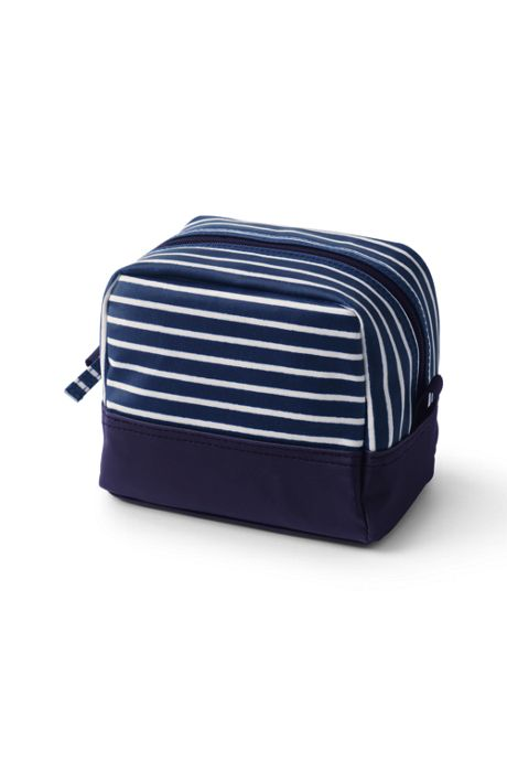 Coated Canvas Square Cosmetic Bag