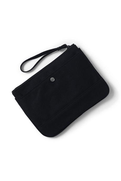 Medium Solid Canvas Zipper Pouch