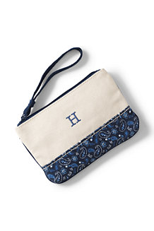Small Printed Canvas Clutch Bag