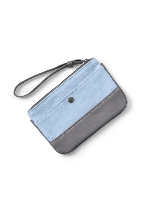 Small Solid Canvas Zipper Pouch