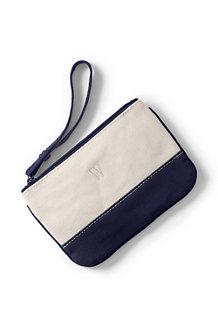 Kleine Canvas-Zippertasche
