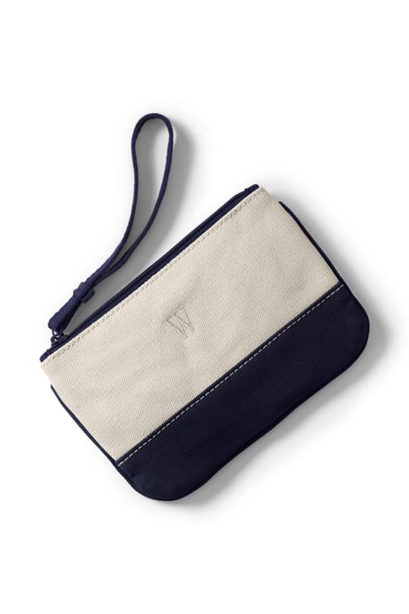 Solid Canvas Zipper Pouch