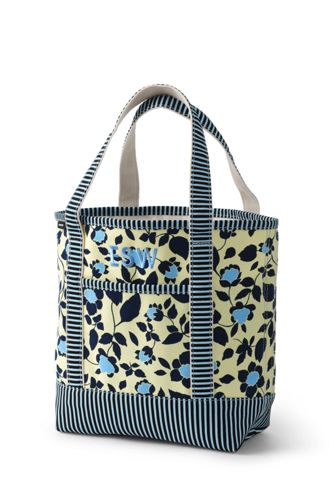 Medium Printed Open Top Canvas Tote Bag