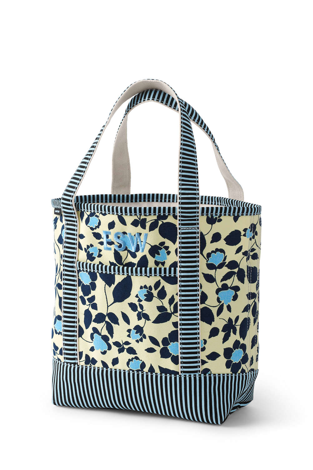 01583df64f8e Open or Zip Top All Over Print Canvas Tote Bag from Lands  End