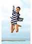 Le Maillot 1 Pièce à Motifs et Manches Longues Smart Swim, Fille