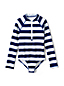 Girls' Long Sleeve Patterned Swimsuit