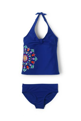 Little Girls' Halterneck Tankini Set