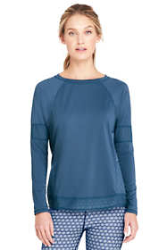 Women's Active Mesh Blocked Long Sleeve T-shirt