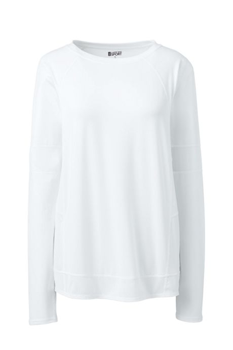 Women's Active Mesh Blocked Long Sleeve T-shirt