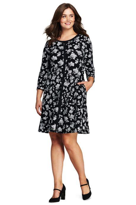 Women's Plus Size Ponte Trapeze Dress