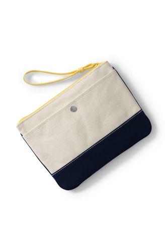 Medium Embroidered Canvas Clutch Bag