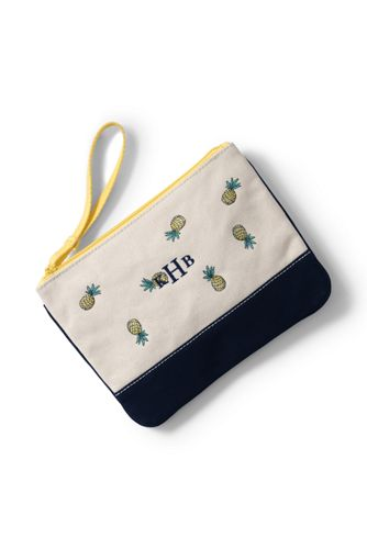 Medium Embroidered Canvas Clutch Bag