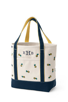 Medium Embroidered Open Top Tote Bag