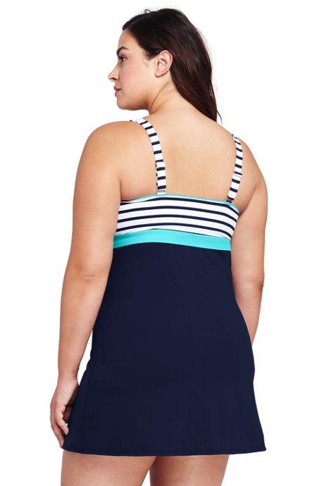 Women's Plus Size DD-Cup Squareneck Dresskini Top