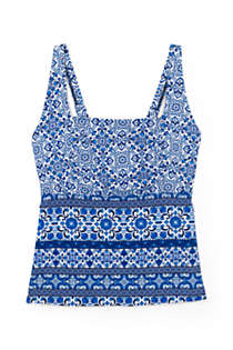 Women's Plus Size Underwire Square Neck Tankini Top, Front
