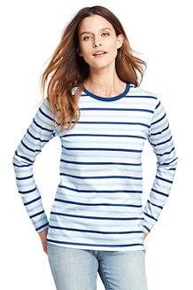 Women's Supima Striped Crewneck T-shirt