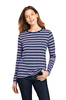 Women's Supima Striped Crewneck T-shirt