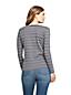 T-Shirt Rayé Coton Supima Col V, Femme Stature Petite