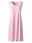 Women's Supima Sleeveless Patterned Nightdress
