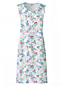 La Chemise de Nuit Imprimée Sans Manches en Coton Supima, Femme Stature Petite
