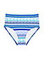Women's Beach Living High Waist Tummy Control Stripe Bikini Bottoms