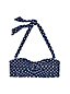 Women's Beach Living Polka Dot DD Cup Bandeau Bikini Top