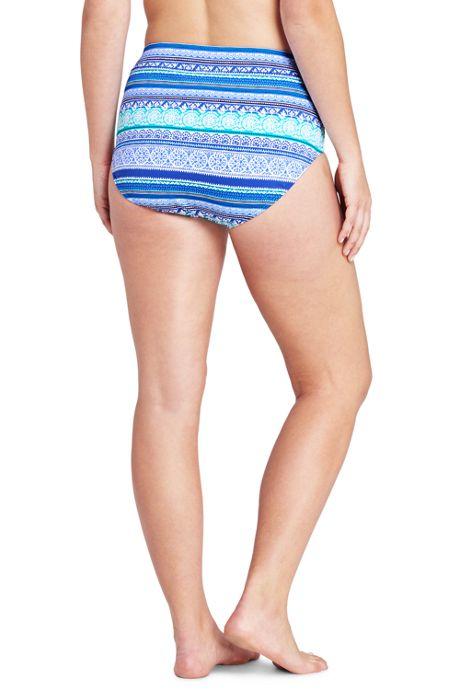 Women's Plus Size High Waisted Bikini Bottoms with Tummy Control