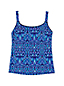 Women's Beach Living Stained Glass Print Tankini Top