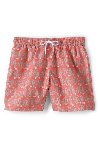 74dea426ec Men's Orange 6 inch inseam Swim Trunks