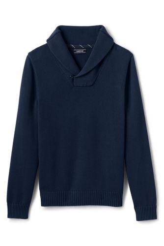Men's Drifter Shawl Collar Cotton Jumper