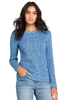 Women's Multicoloured Cotton Cable Jumper