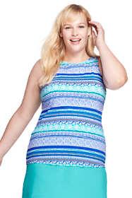 Women's Plus Size High-neck Tankini Top